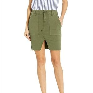 Lulu Military Cargo Skirt in Washed Trip